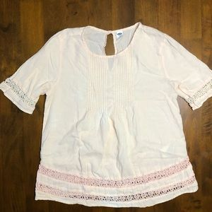 Old Navy Cream Boho Blouse